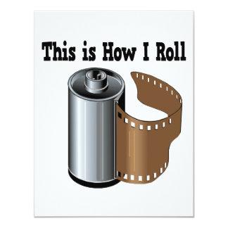 """Cómo ruedo la película de la cámara invitación 4.25"""" x 5.5"""""""