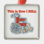 Cómo ruedo (la silla de ruedas) adornos de navidad