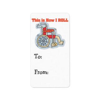Cómo ruedo la silla de ruedas etiqueta de dirección