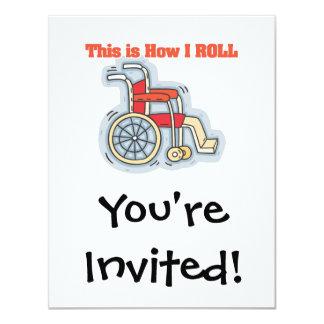 Cómo ruedo (la silla de ruedas) invitación 10,8 x 13,9 cm