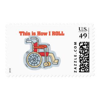 Cómo ruedo (la silla de ruedas) sello