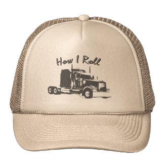 Cómo ruedo los camioneros enredan el casquillo gorras