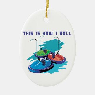 Cómo ruedo (los coches de parachoques) ornamento de navidad