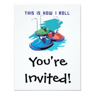 Cómo ruedo (los coches de parachoques) invitación