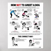 """Cómo saludar un poster del perro (11 x 14"""") - por"""