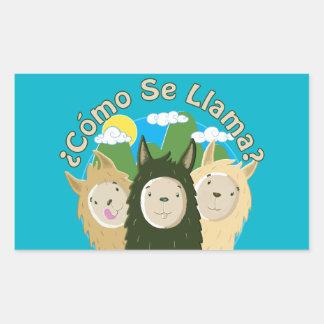 Como Se Llama? Rectangular Sticker
