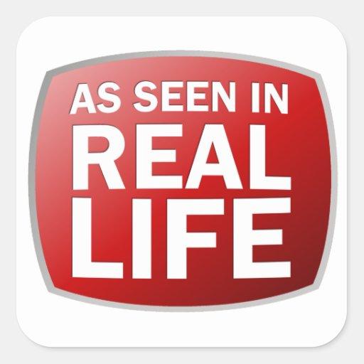 Como se ve en vida real pegatina cuadrada