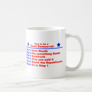 Cómo ser un buen Demócrata Taza De Café
