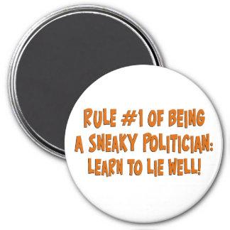 Cómo ser un político disimulado 2 imán redondo 7 cm
