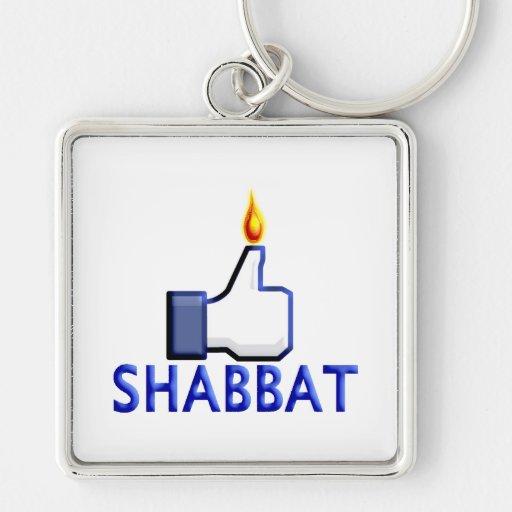 Como Shabbat Llavero Cuadrado Plateado