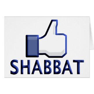 Como Shabbat Tarjeta De Felicitación