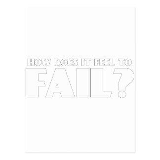 ¿Cómo siente PARA FALLAR? Postales
