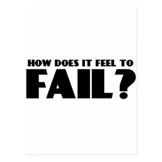 ¿Cómo siente PARA FALLAR? Tarjeta Postal