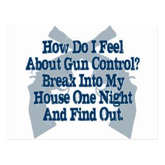 Cómo siento sobre el control de armas tarjeta postal