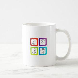 Como símbolos desemejantes taza de café