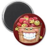 ¡Cómo sobre ellos manzanas?!  ¡Manzanas felices! Imanes
