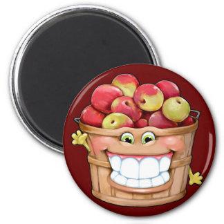 ¡Cómo sobre ellos manzanas?!  ¡Manzanas felices! Imán Redondo 5 Cm
