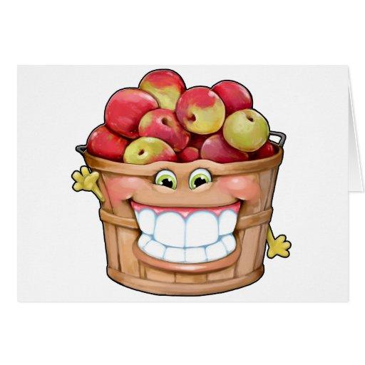 ¡Cómo sobre ellos manzanas?!  ¡Manzanas felices! Tarjeta De Felicitación