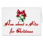 Cómo sobre un beso para el navidad felicitacion