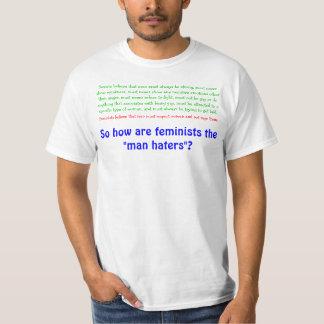 ¿Cómo son las feministas los enemigos del hombre? Playera