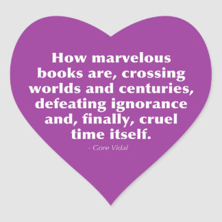 Cómo son los libros maravillosos… colcomanias corazon personalizadas