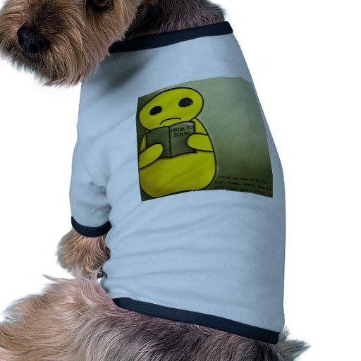 Cómo sonreír camiseta con mangas para perro