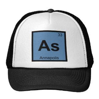 Como - Tabla periódica de la química de Annapolis Gorros Bordados
