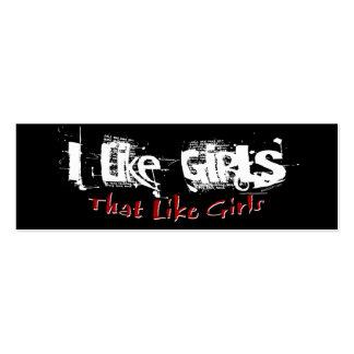 Como tarjeta del perfil de los chicas tarjetas de visita mini