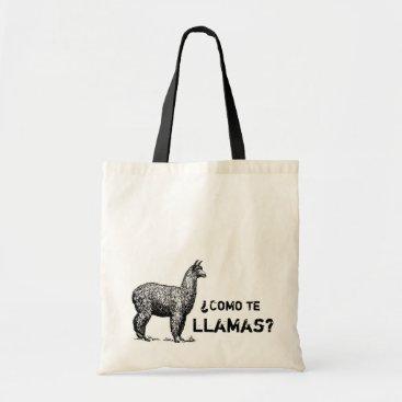 ShopKatalyst Como te llamas vintage funny tote bag