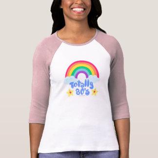Como totalmente el arco iris 80s playera