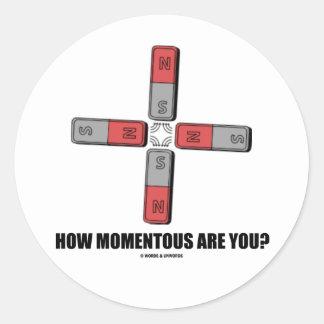 ¿Cómo trascendental es usted? (Momento de Pegatina Redonda
