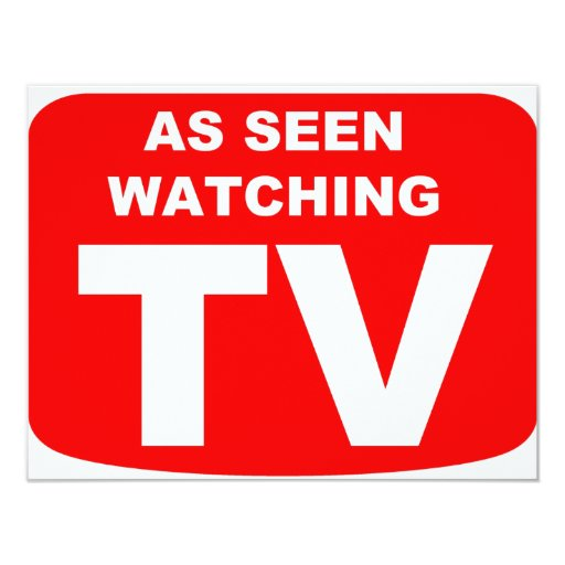 "Como TV de observación vista Invitación 4.25"" X 5.5"""