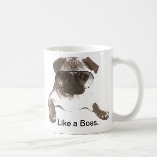 Como un barro amasado de Boss en taza de los vidri