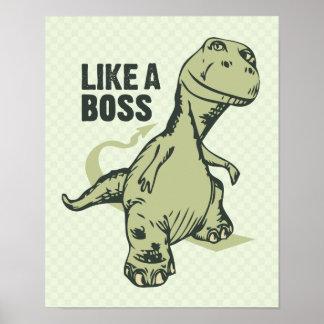 Como un dinosaurio de Boss Impresiones