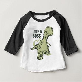 Como un dinosaurio de Boss Playera De Bebé