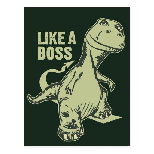 Como un dinosaurio de Boss Tarjeta Postal