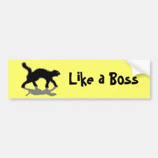 como un gato negro vol11 del jefe pegatina para auto