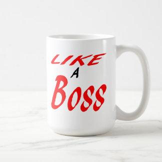 Como un jefe taza básica blanca