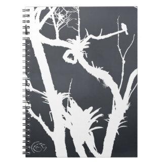 Como un pájaro en un árbol spiral notebook