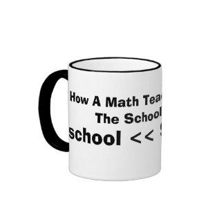 Cómo un profesor de matemáticas ve el año escolar, taza de dos colores