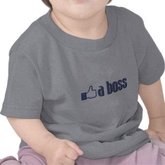 Como un pulgar del jefe camiseta
