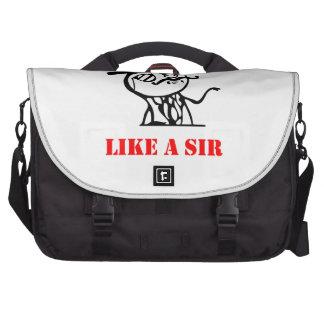 Como un sir - meme bolsas de portatil
