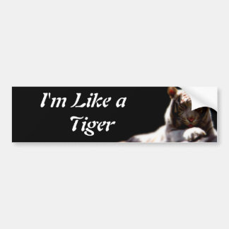 Como un tigre pegatina de parachoque