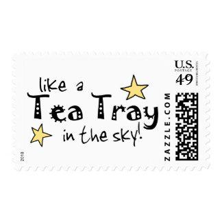 Como una bandeja de té en el cielo franqueo