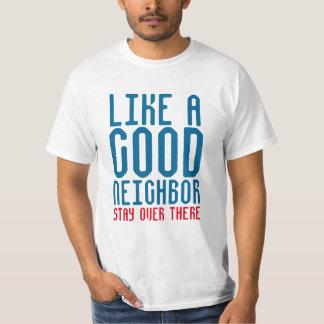 Como una buena camisa divertida vecina de la