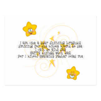 como una estrella que brilla brillantemente tarjeta postal