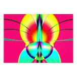 Como una polilla a un fractal de la llama invitación 8,9 x 12,7 cm