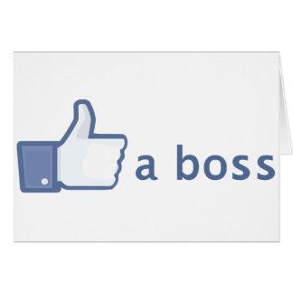 Como una tarjeta de Boss