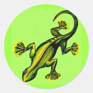 Como-uno-lagarto de Stik Pegatina Redonda