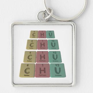 como uranio del hidrógeno del carbono llavero personalizado